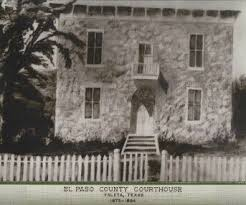 Courthouse, later school building in Ysleta.