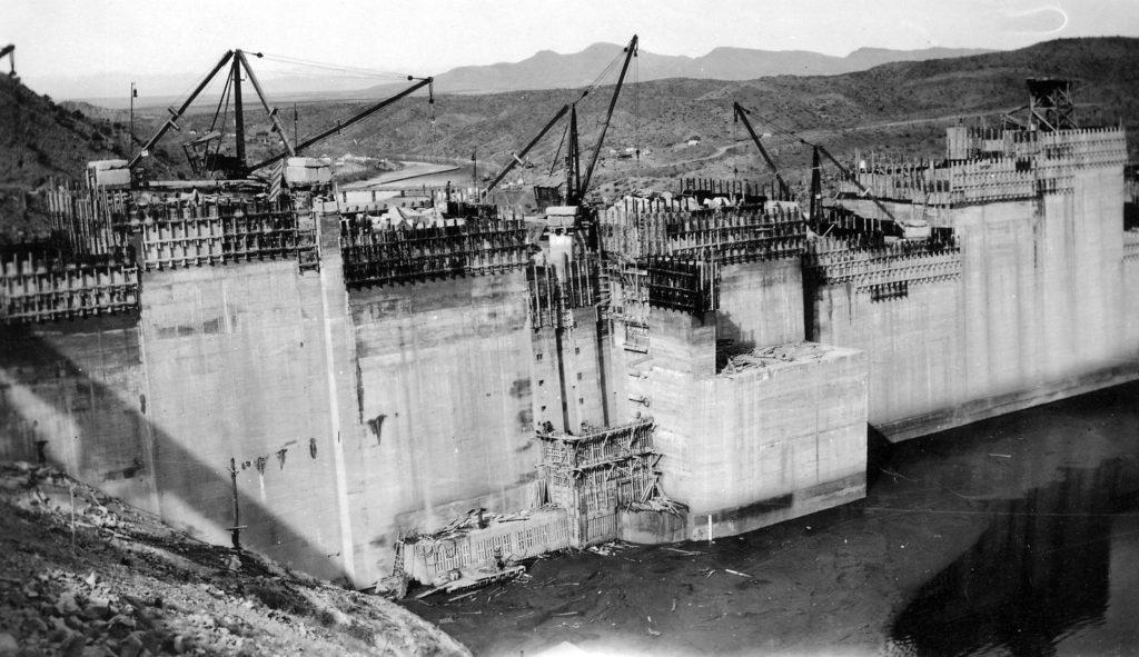 Construction of Elephant Butte Damn.