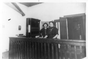 ysleta-tx-1913-mrs-mary-oneill-right-with-helper-operating-the-first-switchboard-in-ysleta