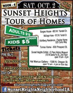 Sunset Heights Neighborhood Improvement Association Tour of Homes flyer